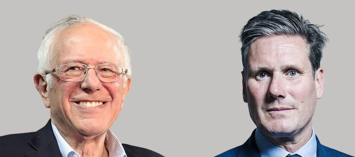 Bernie Sanders (CC Gage Skidmore) y Keir Starmer (CC Chris McAndrew). Fotomontaje: Aceprensa