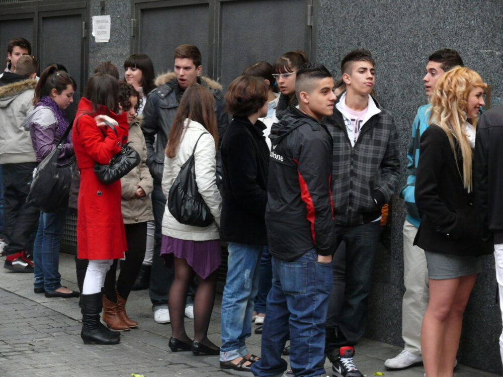Adolescentes españoles foto Pedro Belleza