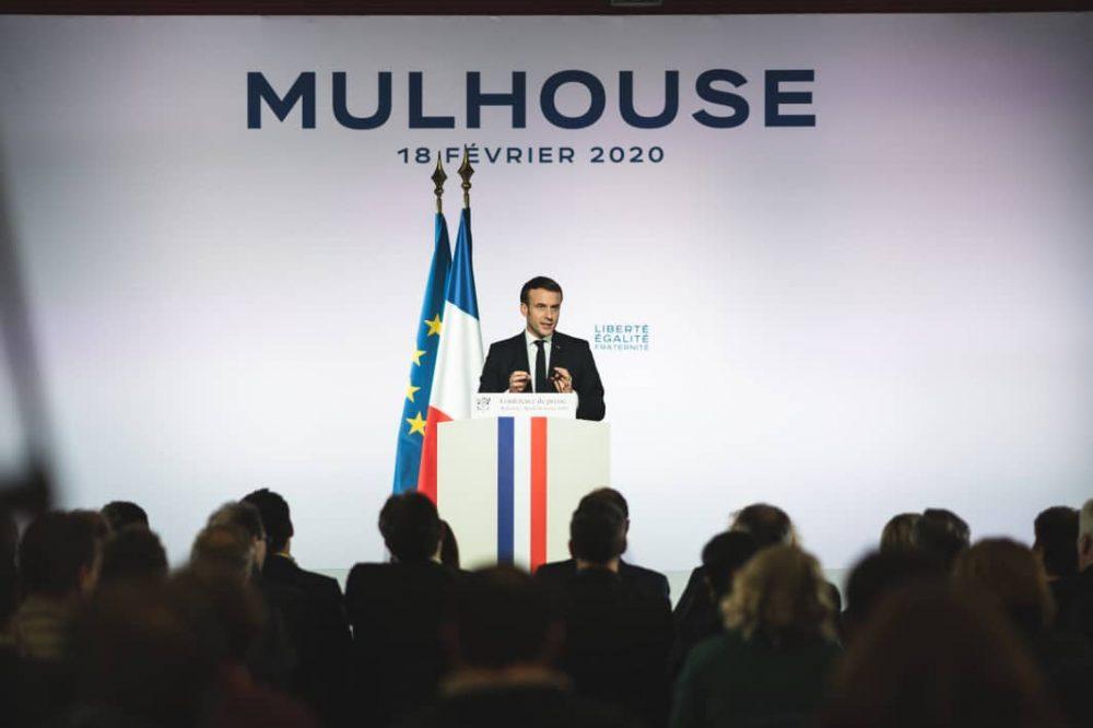 Emmanuel Macron en Mulhouse, 18.02.2020 (Foto elysee.fr)