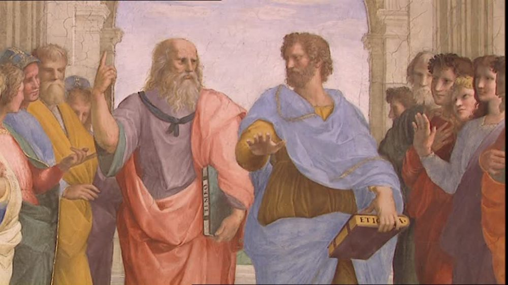 """Felicidad un consejo de Aristóteles (Rafael, """"La escuela de Atenas"""""""
