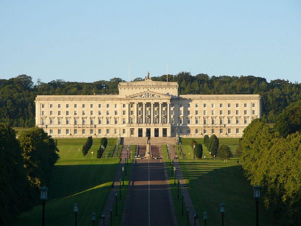 Palacio de Stormont, sede de la Asamblea norirlandesa.